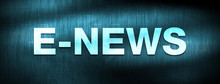 E-news Abstract Blue Banner Background