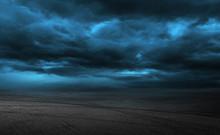 Asphalt Road And Storm Sky Cloud