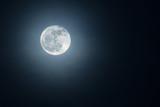Beautiful moon in the night sky.