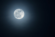 Beautiful Moon In The Night Sky.