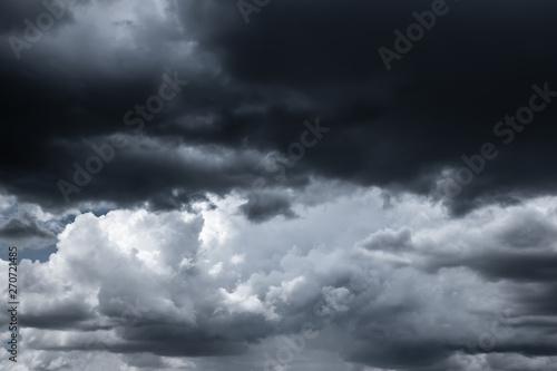 Canvas Prints Heaven Black rain clouds, large storms