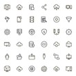Cloude services line icon set. Collection of high quality black outline logo for web site design and mobile apps. Vector illustration on a white background