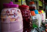 Jars of Aguas Frescas in Mexico City