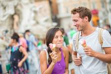 Ice Cream Summer Fun Couple Ea...