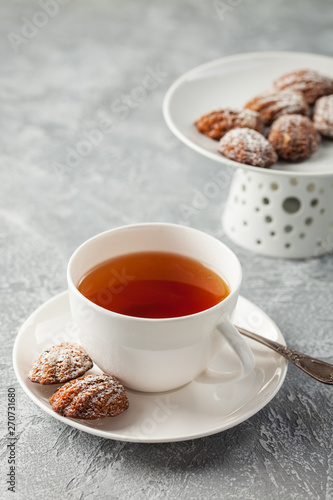 Foto op Plexiglas Chocolade Chocolate Madeleine