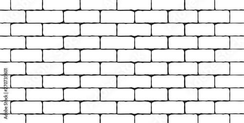 Brick wall background. Vector illustration - 270735601