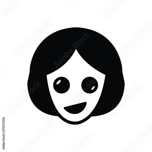 Vászonkép Black solid icon for oddity abnormality
