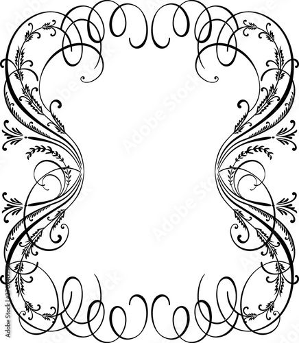 Cascading Ornament Background Border Wall mural