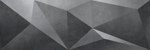 High Resolution 3d Abstract Geometric Black Background, Triangle Seamless