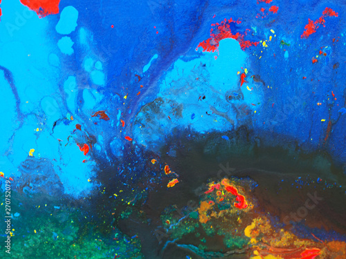 Top view colorful art abstr...
