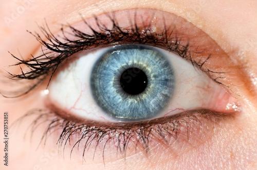Fotobehang Iris Deep blue eye. Beautyful close up