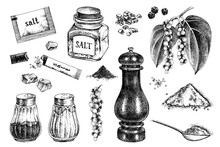 Hand Drawn Salt And Pepper Icons