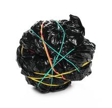 Crumpled Black Plastic Garbage...