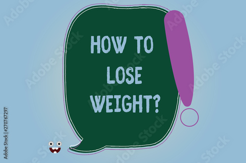 Word writing text How To Lose Weightquestion  Business concept for