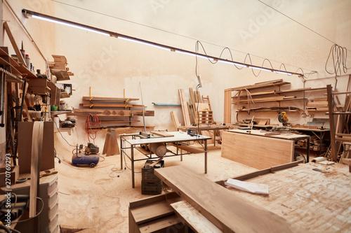 Obraz na plátne  Leere Werkstatt in einem Handwerksbetrieb