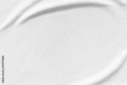 Fotografiet  White sports wear jersey shirt clothing fabric texture