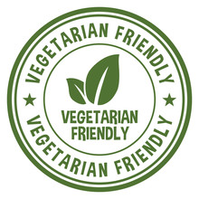 Vegetarian Friendly Stamp