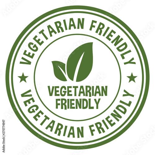 Vegetarian Friendly Stamp Wallpaper Mural