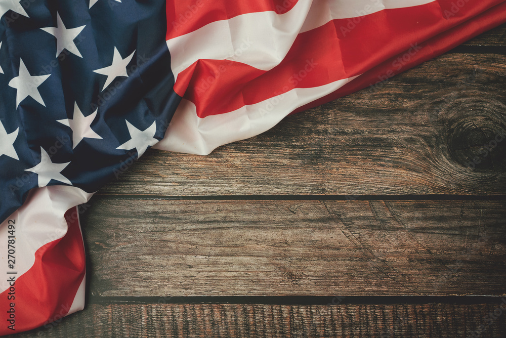 Fototapety, obrazy: Independence day July 4th,American flag