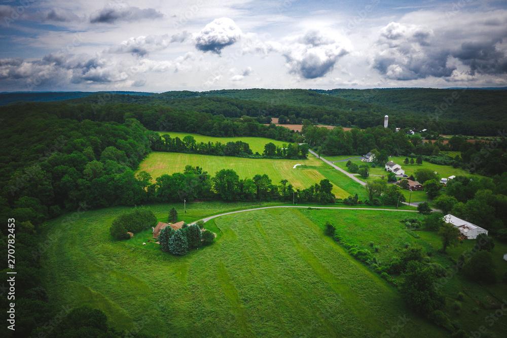 Fototapeta Aerial of Bloomsbury New Jersey