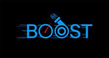 Boost Logo On Black Background