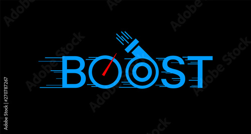 Boost logo on black background Canvas Print
