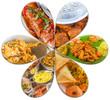 Collage de plats créoles, gastronomie réunionnaise