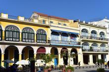 Plaza Vieja With Restored Houses, Colonial Buildings, Havana, Cuba