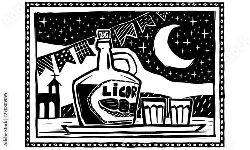 Cuadros en Lienzo  Jenipapo liqueur
