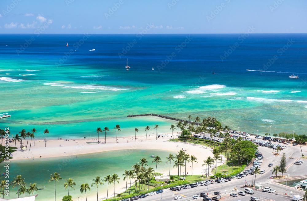 Fototapety, obrazy: 【ハワイ】ワイキキビーチ