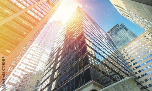 Fotografiet Modern office buildings in city