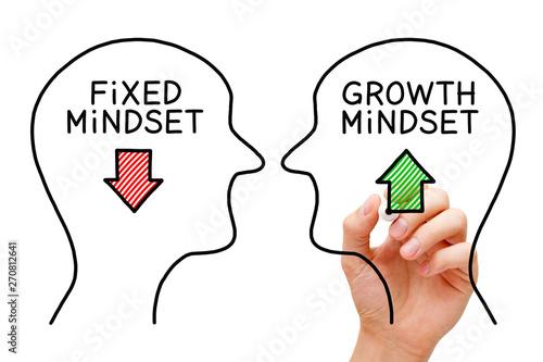 Fotografía Fixed Mindset Vs Growth Mindset Concept