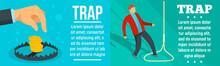 Trap Banner Set. Flat Illustra...