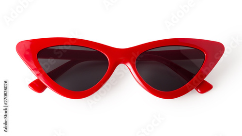 Fotografiet Cat eye sunglasses isolated on white