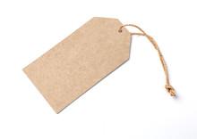 Blank Brown Cardboard Price Tag