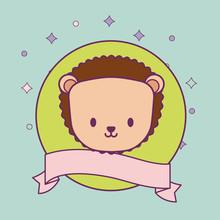Head Of Cute Porcupine In Fram...