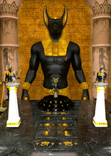 Temple Of Anubis In The Old Eg...