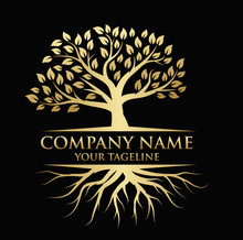 Tree And Roots Logo Illustrati...