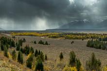 Scenic View Of The Grand Teton...