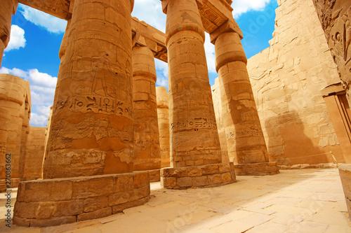 Fotografia, Obraz  Anscient Temple of Karnak in Luxor - Ruined Thebes Egypt