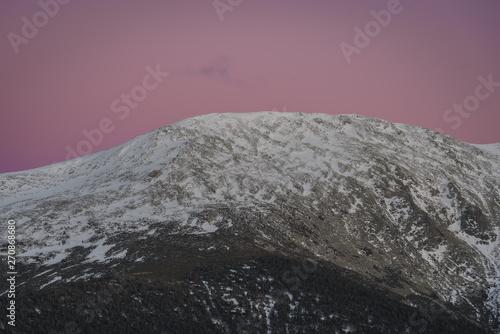 Foto op Canvas Heelal Mountains at sunset