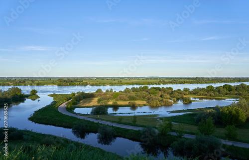 Ujście rzeki Wierzyca do Wisły - fototapety na wymiar