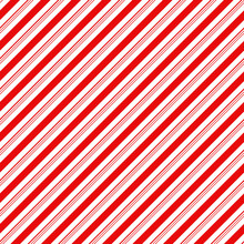 Candy Cane Stripes Seamless Pattern - Diagonal Candy Cane Stripes Repeating Pattern Design