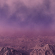 3d generated fantasy landscape of lonely desert mountains