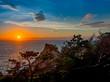 【伊豆半島ジオパーク】静岡県西伊豆黄金崎の夕景【夏】