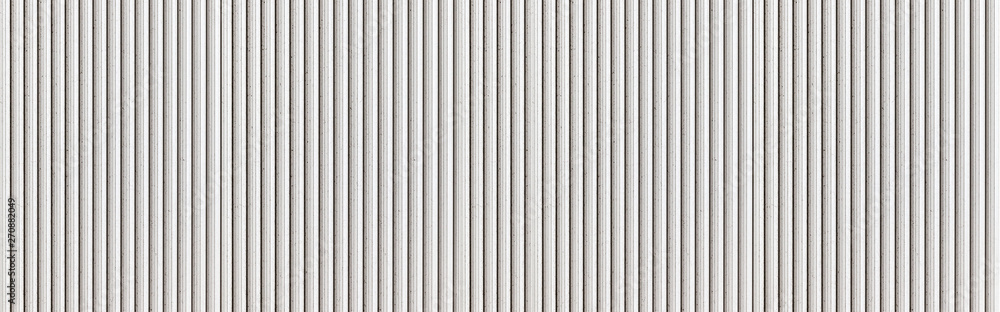 Fototapety, obrazy: Panorama of White Corrugated metal texture surface or galvanize steel background