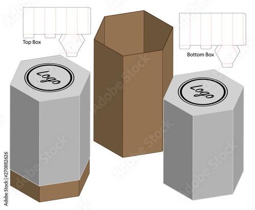 Leinwand Poster Box packaging die cut template design. 3d mock-up