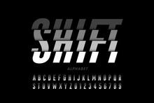 Modern Font Design, Shifted St...