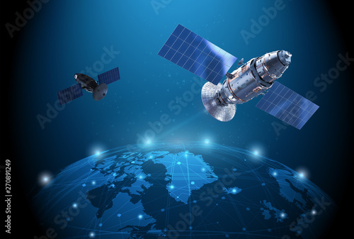 Fotografía  Satellite dish with antenna
