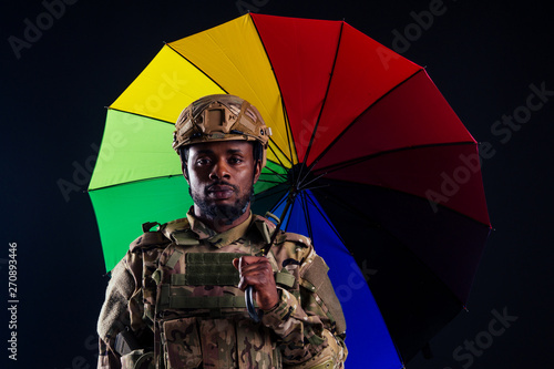 military army african male warrior camouflage suit sorrow sadness wrapped in an Canvas Print
